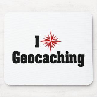 Amo el corazón Geocaching - cazador de tesoros Alfombrilla De Ratón