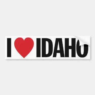 """Amo el corazón Idaho etiqueta del vinilo de 11"""" de Pegatina Para Auto"""