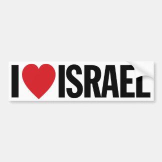 """Amo el corazón Israel etiqueta del vinilo de 11"""" Pegatina Para Auto"""