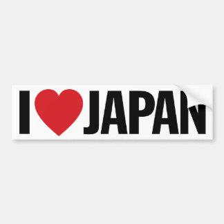 """Amo el corazón Japón etiqueta del vinilo de 11"""" de Pegatina Para Auto"""