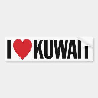 """Amo el corazón Kuwait etiqueta del vinilo de 11"""" Pegatina Para Coche"""
