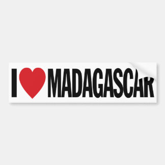 Amo el corazón Madagascar etiqueta del vinilo de Pegatina Para Auto