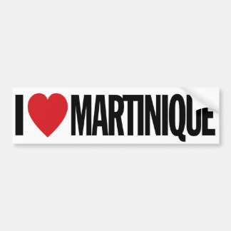 Amo el corazón Martinica etiqueta del vinilo de Pegatina Para Auto