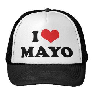 Amo el corazón Mayo - amante de la mayonesa Gorro De Camionero