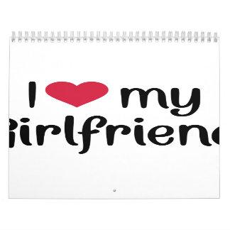 Amo el corazón mi novia calendario