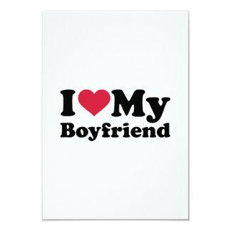 """Amo el corazón mi novio invitación 3.5"""" x 5"""""""