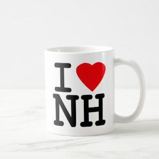 Amo el corazón New Hampshire Taza Clásica