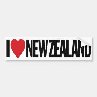 Amo el corazón Nueva Zelanda etiqueta del vinilo Pegatina Para Auto