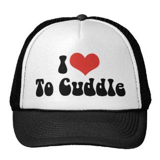 Amo el corazón para abrazar gorras de camionero