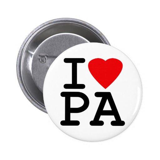 Amo el corazón Pennsylvania Pin