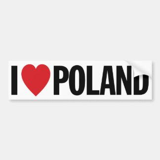 """Amo el corazón Polonia etiqueta del vinilo de 11"""" Pegatina Para Coche"""