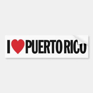 Amo el corazón Puerto Rico etiqueta del vinilo de Pegatina Para Auto