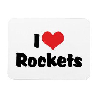 Amo el corazón Rockets - exploración espacial Iman Flexible