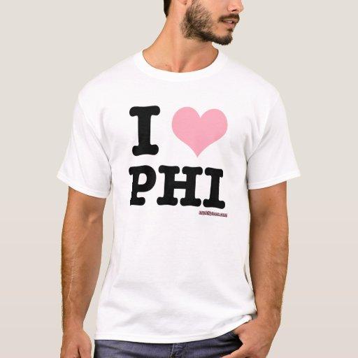 Amo el corazón rosado de Philly Playera