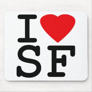Amo el corazón San Francisco Mouse Pad