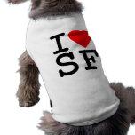 Amo el corazón San Francisco Playera Sin Mangas Para Perro