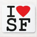 Amo el corazón San Francisco Tapetes De Ratón