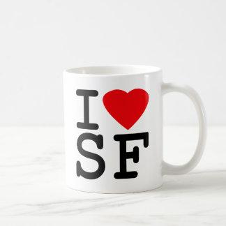 Amo el corazón San Francisco Taza Básica Blanca