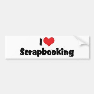 Amo el corazón Scrapbooking - amante del libro de Pegatina Para Auto