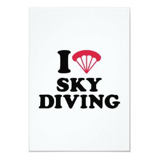 """Amo el corazón Skydiving Invitación 3.5"""" X 5"""""""
