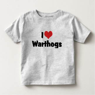 Amo el corazón Warthogs Playera De Bebé
