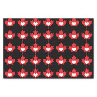 Amo el corazón y la hoja de arce de Canadá Papel De Seda Pequeño