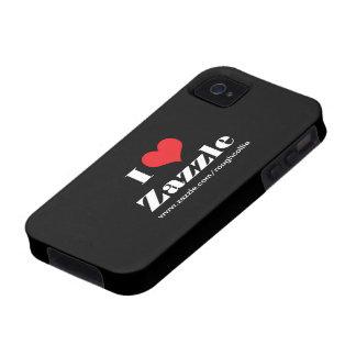 Amo el corazón Zazzle personalizado para promover Vibe iPhone 4 Fundas