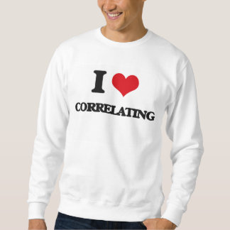 Amo el correlacionar pullover sudadera