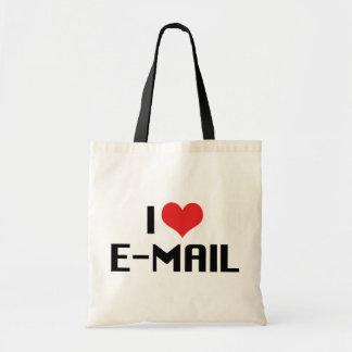 Amo el correo electrónico bolsa tela barata