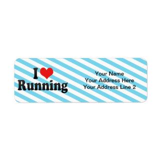 Amo el correr etiquetas de remite