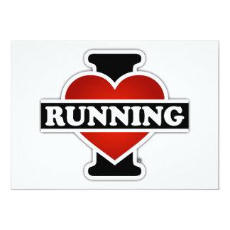 """Amo el correr invitación 5"""" x 7"""""""