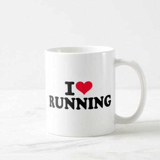 Amo el correr taza básica blanca
