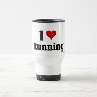 Amo el correr taza de viaje de acero inoxidable