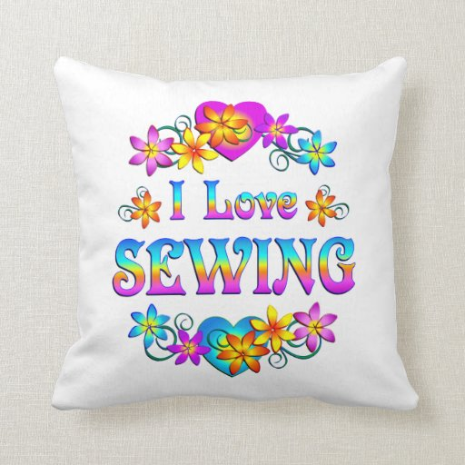Amo el coser almohadas