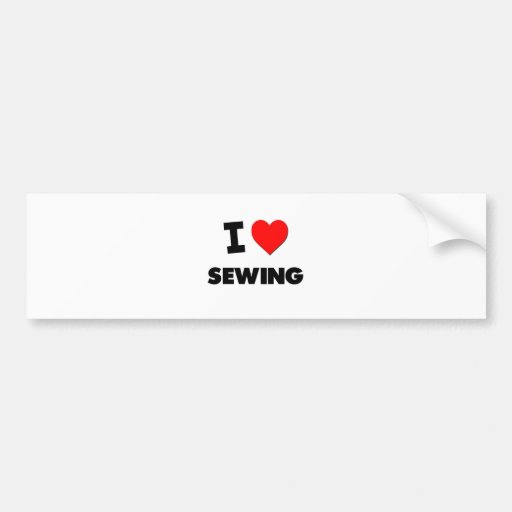 Amo el coser etiqueta de parachoque