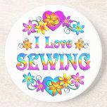 Amo el coser posavasos personalizados