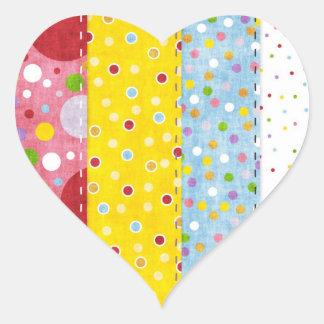 Amo el coser - SRF Pegatina En Forma De Corazón