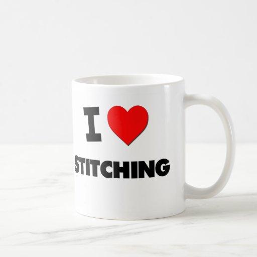 Amo el coser tazas de café