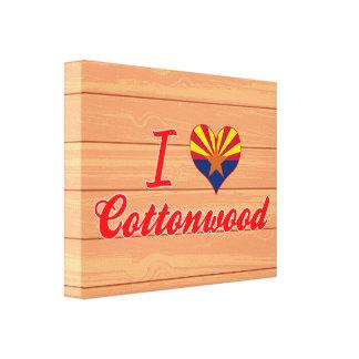 Amo el Cottonwood, Arizona Impresión En Lona Estirada