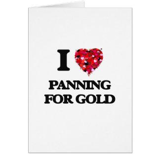 Amo el criticar para el oro tarjeta de felicitación