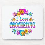 Amo el Crocheting Alfombrillas De Raton