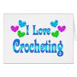Amo el Crocheting Felicitaciones