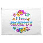 Amo el Crocheting Mantel Individual