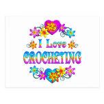 Amo el Crocheting Postal