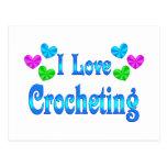 Amo el Crocheting Tarjeta Postal