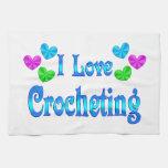 Amo el Crocheting Toalla De Cocina