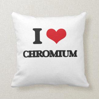 Amo el cromo cojines
