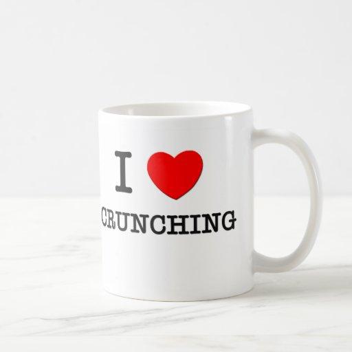 Amo el crujir taza de café