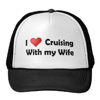 Amo el cruzar… Esposa Gorro De Camionero