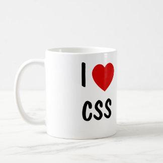 Amo el CSS Taza Básica Blanca